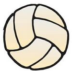 Volleyball Promotional Magnet w/ Strip Magnet (10 Square Inch)