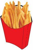 French Fries Acrylic Coaster w/ Felt Back