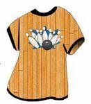 Bowling Strike T-Shirt Mighty Mini Magnet