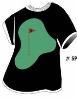 Golf Course T-Shirt Acrylic Coaster w/ Felt Back