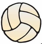 Volleyball Promotional Magnet w/ Strip Magnet (3 Square Inch)