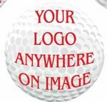 Golf Ball Promotional Magnet w/ Strip Magnet (8 Square Inch)