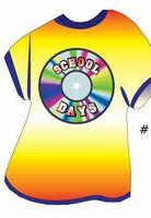 School Days Disc T Shirt Acrylic Coaster w/ Felt Back