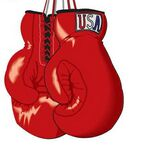 Boxing Glove Maxi Magnet (3 Square Inch)