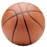 Basketball Promotional Magnet w/ Strip Magnet (4 Square Inch)