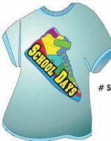 School Days Shoe T Shirt Acrylic Coaster w/ Felt Back