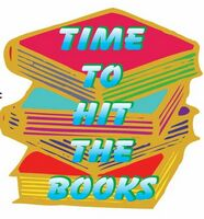 Time To Hit The Books Slogan Acrylic Coaster w/ Felt Back