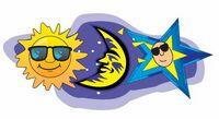 Sun And Moon Acrylic Coaster w/ Felt Back