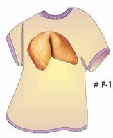 Fortune Cookie T Shirt Acrylic Coaster w/ Felt Back