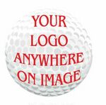 Golf Ball Promotional Magnet w/ Strip Magnet (4 Square Inch)