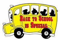 School Bus w/ Slogan Acrylic Coaster w/ Felt Back