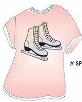 Ice Skates T-Shirt Acrylic Coaster w/ Felt Back