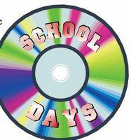 School Days Disc Acrylic Coaster w/ Felt Back