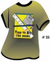 School Supplies T Shirt Acrylic Coaster w/ Felt Back