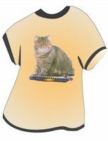 Exotic Shorthair Cat T Shirt Acrylic Coaster w/ Felt Back
