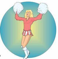 Cheerleader Acrylic Coaster w/ Felt Back