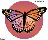 Purple & Pink Butterfly Acrylic Coaster w/ Felt Back