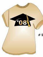 Graduation Cap T Shirt Acrylic Coaster w/ Felt Back