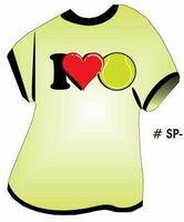 I Love Tennis T-Shirt Acrylic Coaster w/ Felt Back