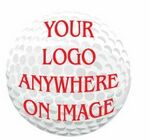 Golf Ball Promotional Magnet w/ Strip Magnet (2 Square Inch)