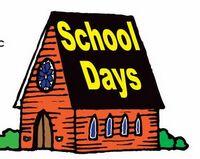 School Days House Acrylic Coaster w/ Felt Back