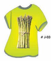 Asparagus T Shirt Acrylic Coaster w/ Felt Back