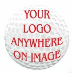 Golf Ball Promotional Magnet w/ Strip Magnet (6 Square Inch)