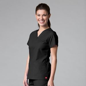 7cf21a41aab Maevn Red Panda Women's V-Neck Two Pocket Top - 1716 - IdeaStage  Promotional Products