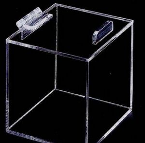 Acrylic Display Box W Hinged Lid 12x12x18 Sqb1812l