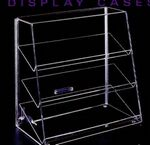 Custom Acrylic Angled Front Display Case w/ Flat Shelves