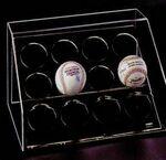 Custom Acrylic Baseball Multi Case w/ 12 Ball Enclosure & Mirror Back