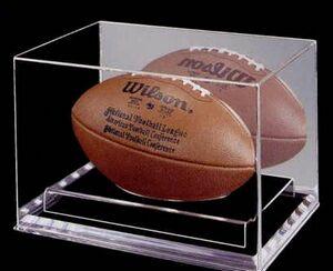 Acrylic Football Display Case w/ 1/4 Beveled Base (13Wx9Dx9H)