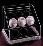 Custom Acrylic Baseball Multi Case w/ 9 Ball Enclosure & Mirror Back