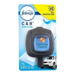 Febreze CAR Vent Clip, Linen & Sky scent, Standard