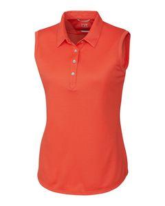 Custom Ladies' Cutter & Buck Clare Sleeveless Polo Shirt