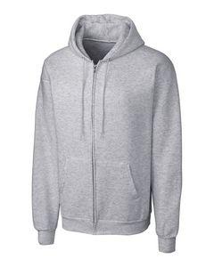Custom Clique Basics Flc Full Zip Hoodie 3-4XL