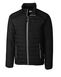 Custom Men's Cutter & Buck WeatherTec Barlow Pass Jacket