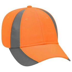 Custom OTTO 6 Panel Reflective Piping Low Profile Baseball Cap