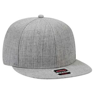 (click image for details). OTTO Heather Wool Blend Twill Round Flat Visor