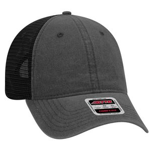 OTTO 6 Panel Garment Washed Pigment Dyed Superior Cotton Twill Mesh Back  Low Profile Baseball Cap - 121-1202 - IdeaStage Promotional Products 4ea0c0a29c46