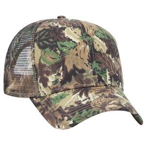 7ab0240c1c8 OTTO Camouflage Cotton Blend Twill 6 Panel Pro Style Mesh Back Trucker Hat  - 45-052 - IdeaStage Promotional Products