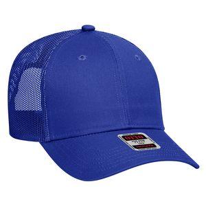 Custom OTTO Cotton Blend Twill 6 Panel Low Profile Mesh Back Trucker Hat