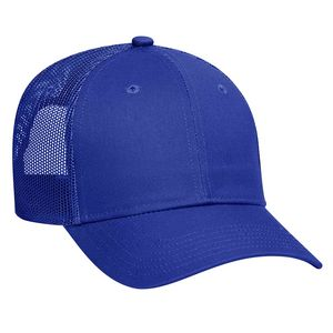 10f95fd9da6 OTTO Cotton Blend Twill 6 Panel Low Profile Mesh Back Trucker Hat - 83-473  - IdeaStage Promotional Products