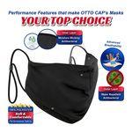 Custom OTTO CAP Contoured Face Mask w/Adjustable Straps & Nose Strip