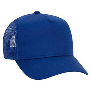 Custom OTTO Cotton Blend Twill 5 Panel Pro Style Mesh Back Trucker Hat