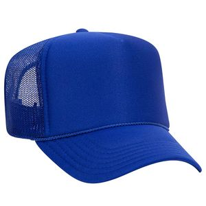 OTTO Polyester Foam Front 5 Panel High Crown Mesh Back Trucker Hat