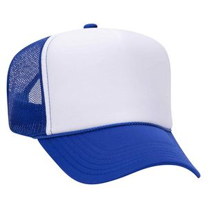 Polyester Foam Front 5 Panel High Crown Mesh Back Trucker Hat