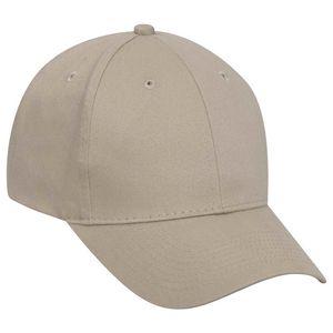 Custom OTTO Brushed Cotton Twill 6 Panel Low Profile Baseball Cap