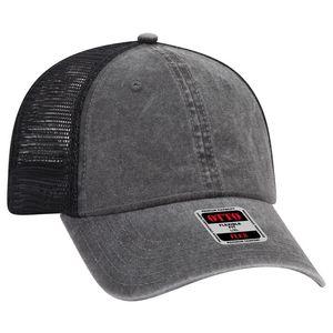 Custom OTTO FLEX 6 Panel Low Profile Cotton Twill Polyester Mesh Back Baseball Cap