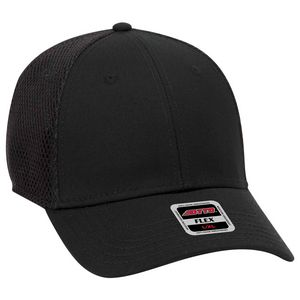 OTTO FLEX Cotton Twill w/ Stretchable Polyester Air Mesh Back 6 Panel Low Profile Baseball Cap
